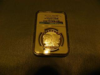 2011 P U.  S.  Army Commemorative Silver Dollar Pf 70 Ultra Cameo photo