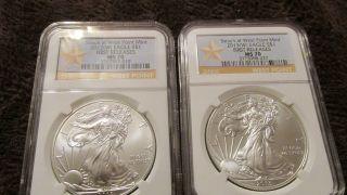 Ngc 2012 W Fr & 2013 W Fr America Silver Eagle Ms 70 photo