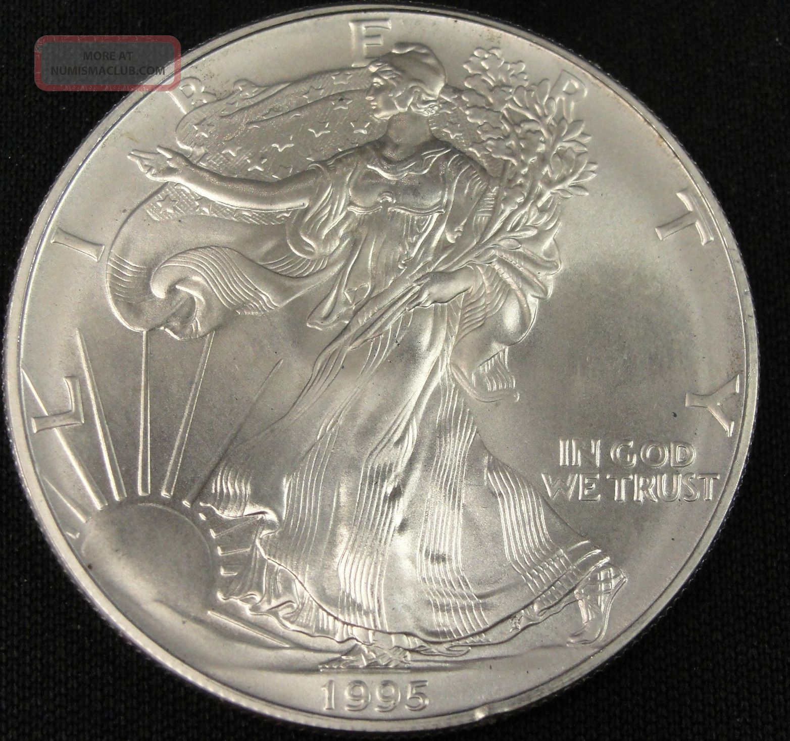 1995 American Silver Eagle Bullion Coin Key Date Uncirculated Nr Silver photo