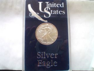 Look Unc.  1996 Silver Eagle In Case,  Coin.  ( (key Date)) photo