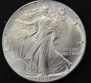 1987 American Silver Eagle Bullion Coin Key Date Uncirculated Nr photo