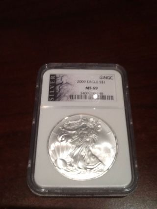 2009 Eagle Ngc Ms - 69 Liberty Series Special Label photo