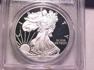 2013 W First Strike 1oz Silver Eagle Proof Dollar Pr70 Pcgs Deep Cameo Coin photo