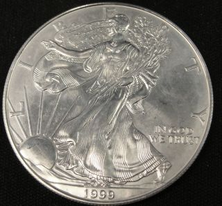 1999 American Silver Eagle Bullion Coin Key Date Nr photo