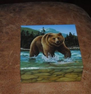 2014 Canadian 1 Oz Silver $100 Coin - The Grizzly Bear photo