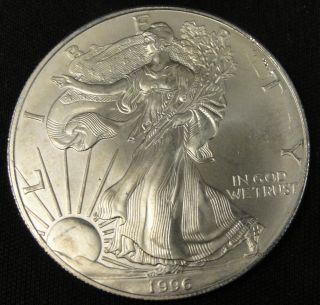 1996 American Silver Eagle Bullion Coin Rare Key Date Nr photo