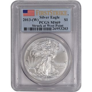 2013 - (w) American Silver Eagle - Pcgs Ms69 - First Strike photo