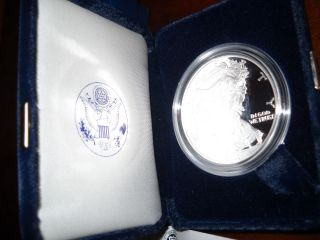2003 - W 1 Oz Proof Silver American Eagle (w/box &) photo