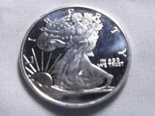 1/2 Oz Liberty Silver Coin.  999 Pure Silver photo
