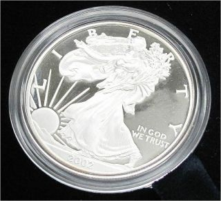 Usa Liberty Silver Dollar,  Eagle 2002w - Proof Rare photo
