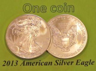2013 American Eagle Silver Bullion 1 Oz.  999 Silver Uncirculated 1 Coin photo