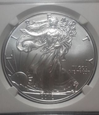 2012 Silver Eagle First Release Ngc Ms69 Mby811 photo