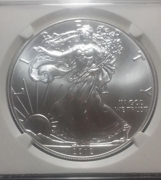 2012 Silver Eagle First Release Ngc Ms69 Mby810 photo