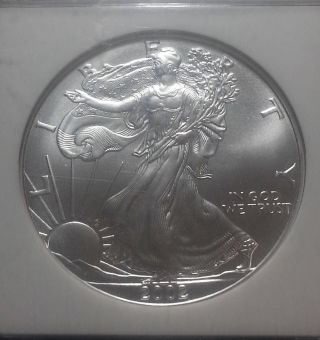 2002 Silver Eagle Ngc Ms69 Mby814 photo