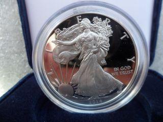 2014 ' W ' Proof American Silver Eagle W/box & C.  O.  A.  Today photo