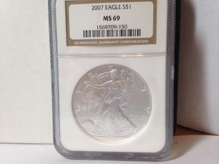 2007 Silver Eagle Ms69 photo