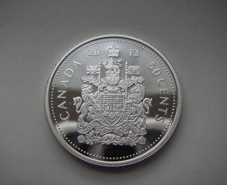 999 Silver Coin - Royal Canadian - Rare 2012 Canada 50 Cent Queen Hot photo