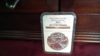 2013 (w) Silver Eagle Struck At West Point Ngc Ms69 photo