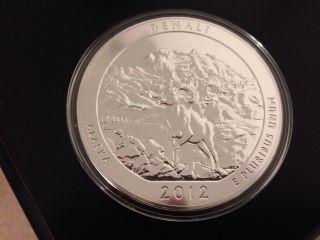 2012 Denali,  Alaska - America The 5 Oz Silver Coin Atb Lowest Mintage photo