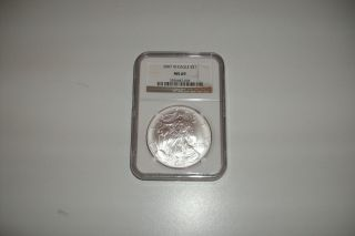 2007 West Point Silver Eagle,  Ngc Ms 69 photo