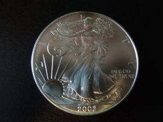 2002 1 Oz Silver American Eagle (brilliant Uncirculated) photo