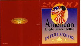 2000 American Silver Eagle,  Colorized photo