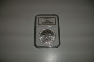 1993 Silver Eagle,  Ngc Graded Ms69,  Brown Label photo