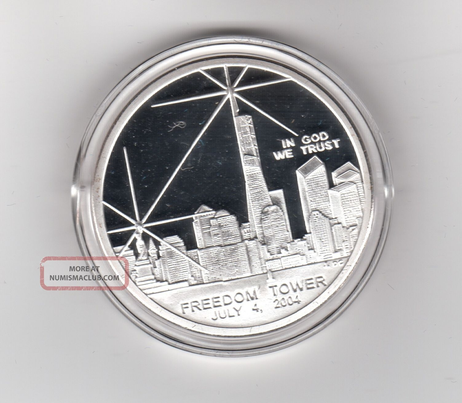 Coin Silver Dollar July 4 2004 Freedom Tower National