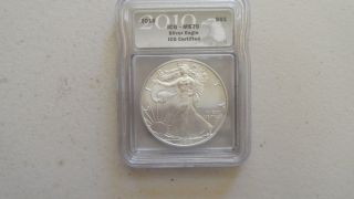 2010 Silver Eagle Ms70 photo