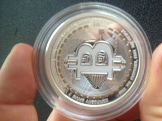 2013 1 Ounce Oz Bitcoin Silver Bullion Coin 999 Fine Proof Like photo