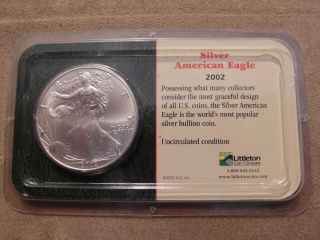 2002 1 Oz Silver American Eagle (brilliant Uncirculated) photo