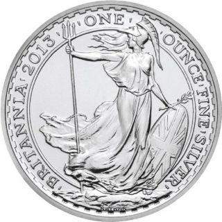 2013 1 Oz Silver Britannia - Lunar Series