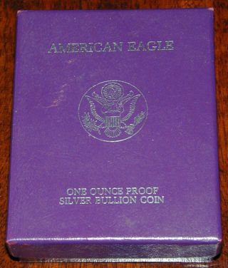 American Eagle One Ounce Proof Silver Bullion Coin 1987 And photo