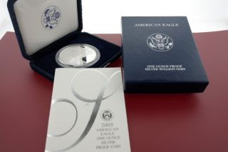 2005 - W Silver American Eagle Proof (w/box &) photo