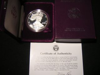 1986 - S 1 Ounce Proof American Eagle And C.  O.  A. photo