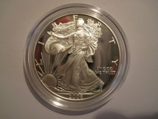 2006 Silver American Eagle,  One Ounce,  Proof,  Packaging, photo