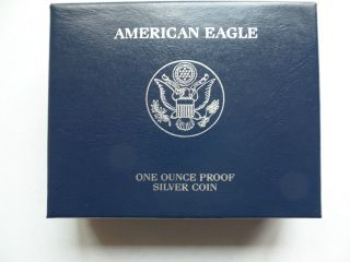 2007 - W Proof American Silver Eagle Coin With U.  S.  & photo