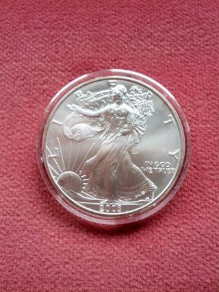 2003 American Eagle Silver Dollar 1 Oz.  Coin Uncirculated photo