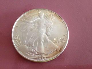 United States Silver Dollar,  1986 Bullion photo