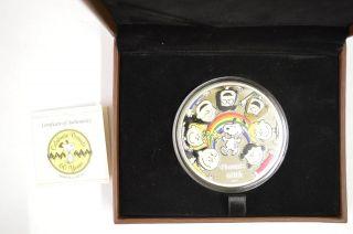 Niue 2010 $10 5 Oz Silver Celebrate Peanuts 60 Years Anniversary - Canada photo