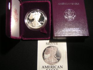 1991 - S 1 Ounce Proof American Eagle And C.  O.  A. photo