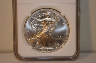 2013 W (west Point) Ngc Silver American Eagle Ms70 photo