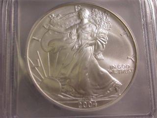 2004 Icg Ms69 Silver Eagle Dollar - 1 Ounce - Id P326 photo