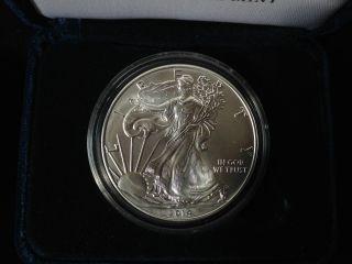 Us Silver Dollar,  2014,  1oz Fine Us Silver Bullion,  W/case photo