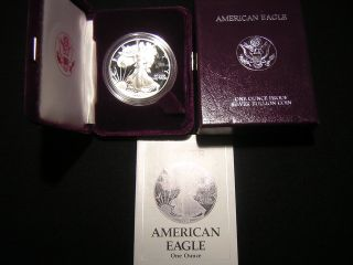 1989 - S 1 Ounce Proof American Eagle And C.  O.  A. photo