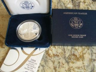 American Eagle Silver Proof Dollar 2008 Packaging photo