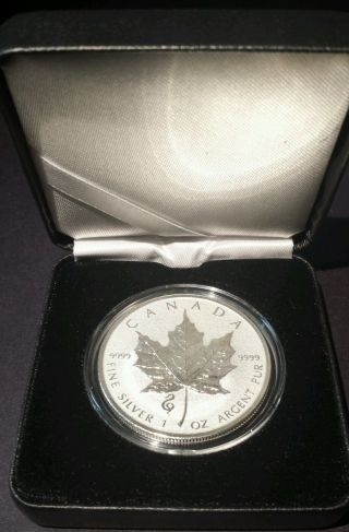 2013 - Snake Privy - Canada Silver Maple Leaf Reverse Proof $5 Coin Rcm photo