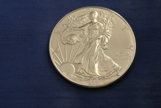 2011 1 Oz Silver American Eagle Coin - Brilliant Uncirculated photo