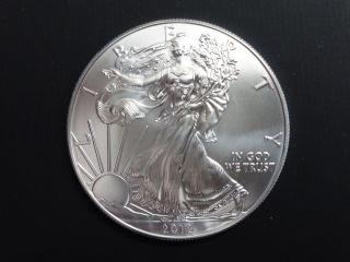 2012 1 Oz American Silver Eagle.  999 Silver Bullion Ase - Bu photo