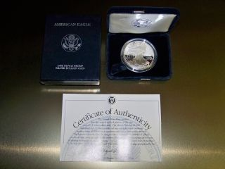 2000 American Eagle 1oz Silver Proof W/ And Display Box photo